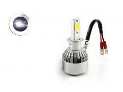 Комплект LED ламп C6 H3 6000K 9-32V радиатор с вентилятором (chip COB)}