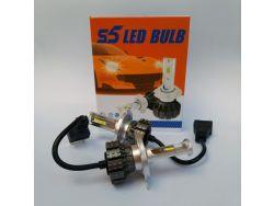 LED комплект  S5 H4 6000К 12-24V 15W с радиатором (диод 3570)}